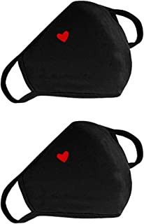 Fashion Cute Heart Face Protection - Unisex Cotton Dustproof Mouth Protection - Reusable Warm Windproof for Outdoor Activities