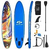 COSTWAY Tavola SUP Gonfiabile, Tavola da SUP, Stand Up Paddle Board Gonfiabile, Surf Board Gonfiabile con Accessori Completo (320x76x15 cm)