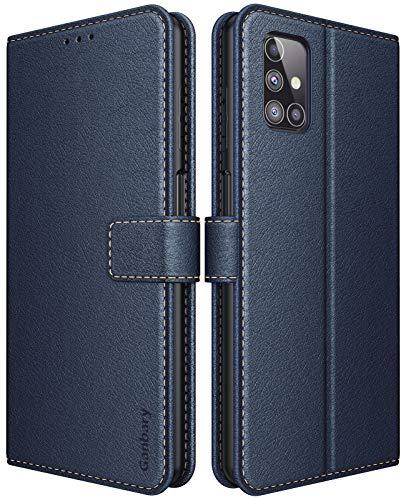 Ganbary Handyhülle für Samsung Galaxy M31s Hülle, Premium Leder Tasche Flipcase [Kartenschlitzen] [Magnetverschluss] [Standfunktion] kompatibel mit Samsung Galaxy M31s Schutzhülle, Blau