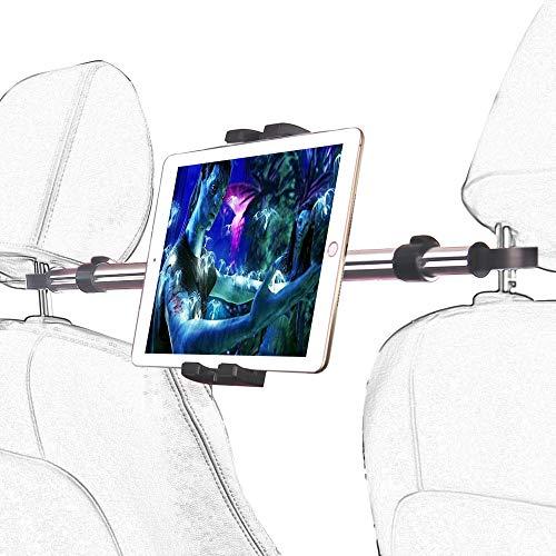 woleyi Soporte para tablet de coche, diseño antigolpes, soporte para el asiento del coche, para iPad Pro 9.7 10.5 12.9 Air Mini 5 4 3 2, iPhone 12 Pro Max 11 XS XR X y 4-12,9' Tablet Smartphone