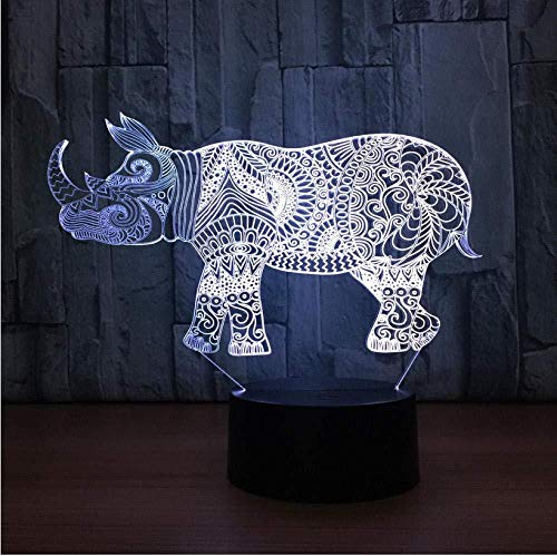 Lumières d'ambiance 3D Petit fabricant de lampe de nuit Coloré Led Night Light Smart Home Décoration 3D Luminaires