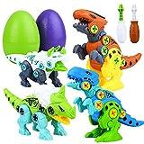 Juguetes Dinosaurios para Niños Juego Dinosaurio Montable Construcción con Huevos de Dinos y Destornilladores Stem Ingeniería DIY Set Juguetes Educativos Regalos
