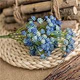 Flores Artificiales Fiesta de Flores de plástico casa decoración Accesorios de Boda Mini Regalo de Flores Falsas Blue