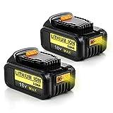 2X 18V DCB184 5.0Ah Batería de repuesto para Dewalt XR DCB181 DCB182 DCB183 DCB185 DCB200 DCB200-2 DCB205DCB181-XJ N123283 Taladro inalámbrico