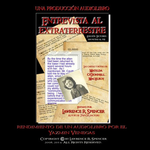 Entrevista Al Extraterrestre (Sin Las Notas Al Pie) [Alien Interview (No footnotes)] audiobook cover art