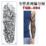 tzxdbh 3pcs- Etiqueta engomada del Tatuaje del Brazo Completo Etiqueta engomada del Tatuaje Impermeable 3pcs- Gran cantidad de Descuento en Contacto con el Servicio al Cliente