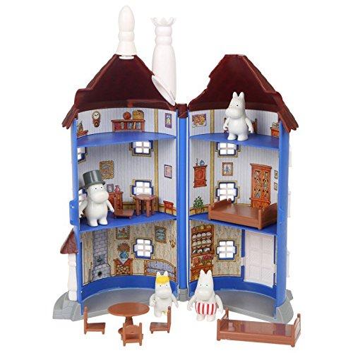 Moomin Hus 30 cm med 4 figurer och möbler