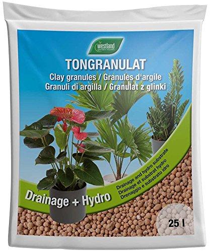 Westland Ton-Granulat für alle Topfpflanzen, Grün- und Blühpflanzen, Ton-Farbe, 25 Liter