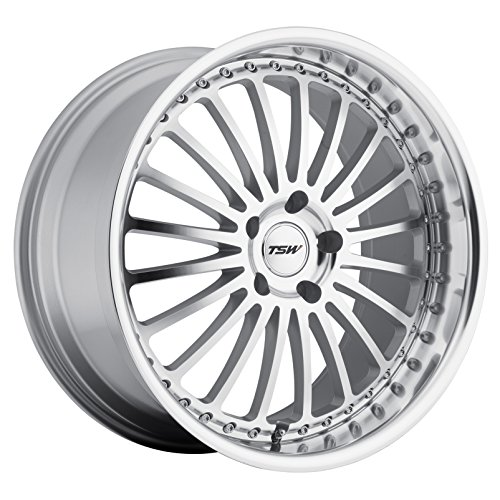 TSW Silverstone 17 Silver Wheel / Rim 5x120 with a 20mm Offset and a 76 Hub Bore. Partnumber 1780SIL205120S76