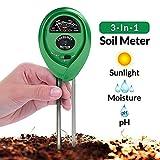 OLES Soil Moisture pH Sunlight Meter 3-in-1 Soil Tester Kit with Moisture pH