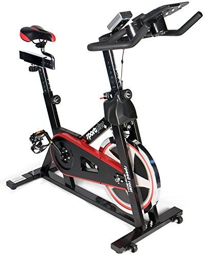 Sportplus Bicicleta Estática/Speedbike con Soporte para Tablets ,Volante de Inercia de Aprox. 13 kg, SP-SRP-2100-i