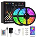 LED Strip Lights, L8star 32.8ft(10m) Sync to Music Color Changing Rope Lights 5050 RGB Light Strips Bluetooth Controller Apply for TV, Bedroom, Party and Home Decoration (32.8ft)