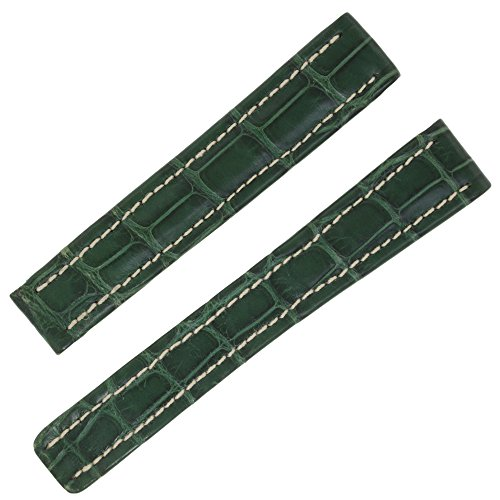 Breitling P137 15-14 mm Genuine Green Alligator Leather Watch Band