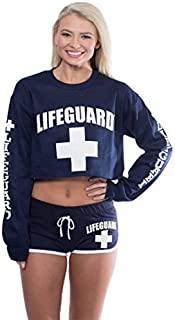 LIFEGUARD Official Cropped Crewneck Pullover Long Sleeve Sweatshirt for Women.