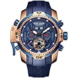 Reef Tiger Military Watches for Men Rose Gold...