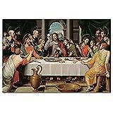 Pintura famosa La última cena Impresión en lienzo Carteles de retrato e impresiones Imagen de arte d...