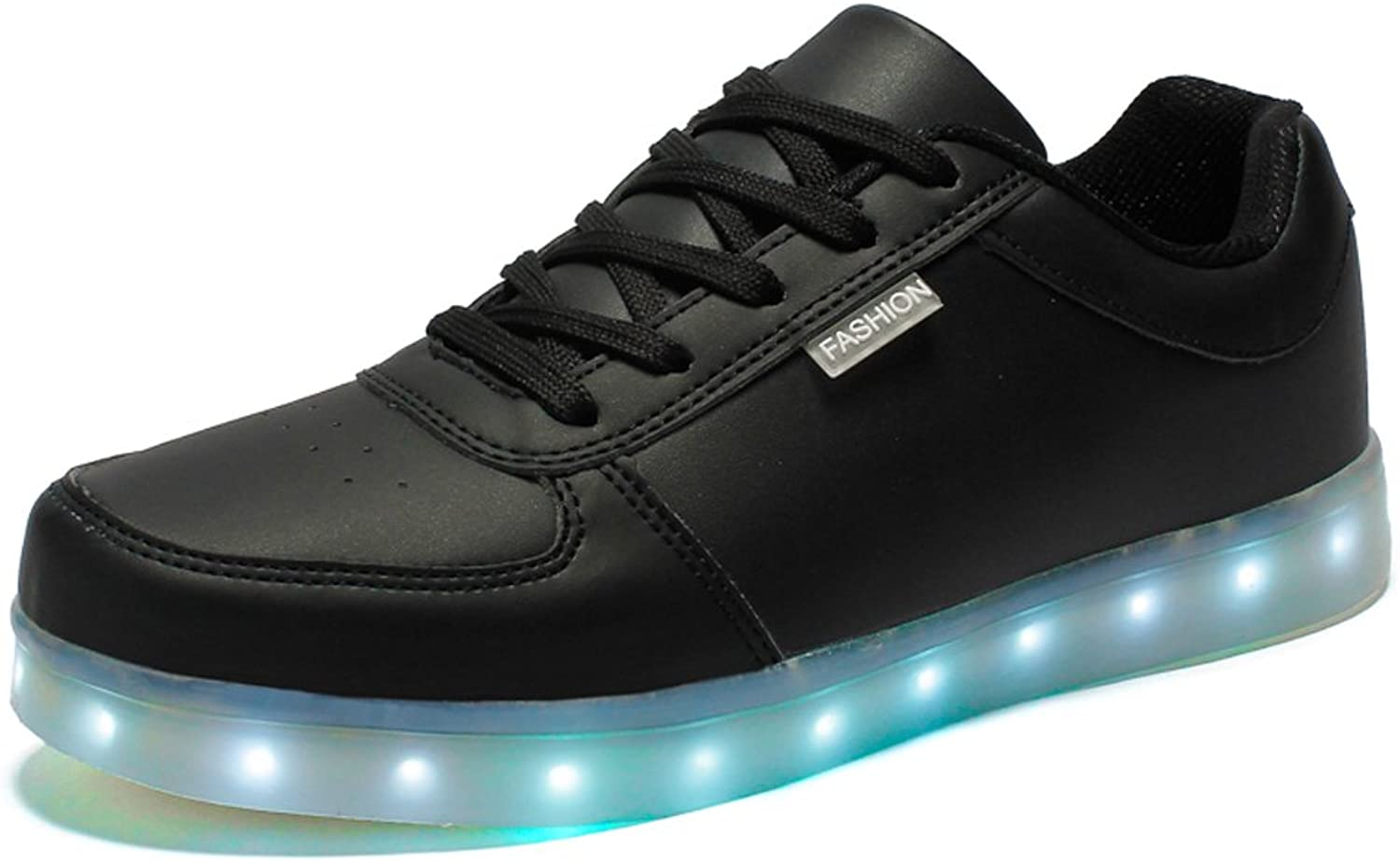 Ausom Men & Women 7 colors USB Charging LED shoes Flashing Sneakers Light Up Glowing Leisure Flat shoes