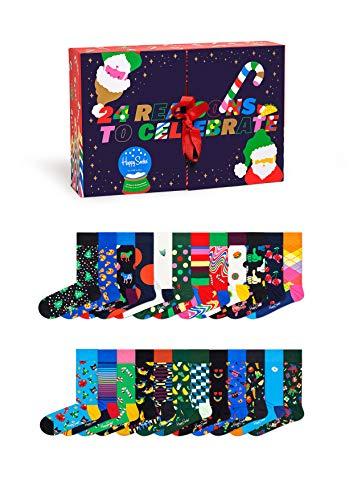 Happy Socks Unisex Advent Calendar Socken, Multi, 4-11 (41-46)
