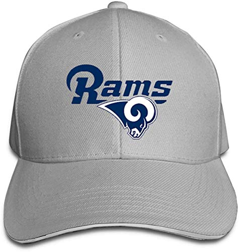 Adjustable Sports Golf Cap Los Angeles RAMS One Size Fits All,Black