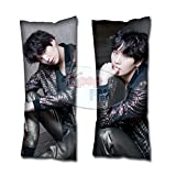 Cosplay-FTW Kpop BTS BMA Suga Body Pillow Cover Peach Skin Cotton Polyester Blend 40cm x 100cm (Set of 1, CASE ONLY)