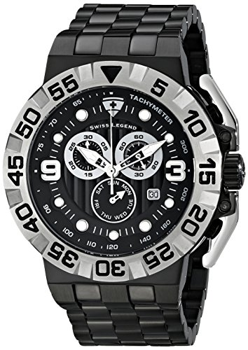 Swiss Legend Men's 10125-BB-11-SA Challenger Analog Display Swiss Quartz Black Watch