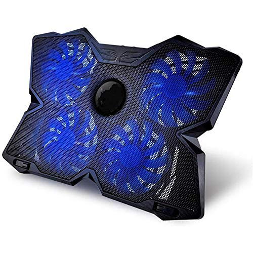 JOE Laptop Cooling Pad, Laptop Accessories with LED 4 USB 2.0 Fans for Laptop Support/Macbook/Dell / Asus14,Blue