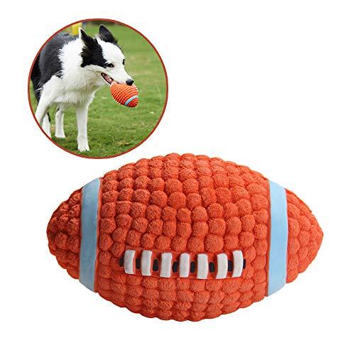 AYADA Hundespielzeug Rugby für Hund, Hundeball Ball Hund Latex Quietschspielzeug Molar Kauspielzeug für Hund Dog Toy Chew Ball Interaktive Training Spielzeuge Ball Kauen Spielzeug für Hunde