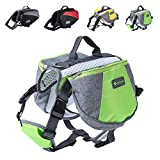 Wellver Dog Backpack Saddle Bag Travel Packs for Hiking Walking Camping