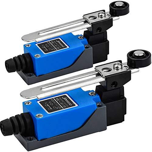 2 Stück Lever Endschalter Tragbar Micro Rollenhebel Endschalter Verstellbar Wasserdicht Endschalter für CNC Fräser Plasma