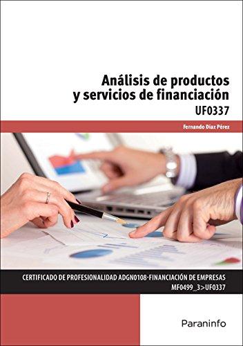 Análisis de productos y servicios de financiación (Cp - Certificado Profesionalidad)
