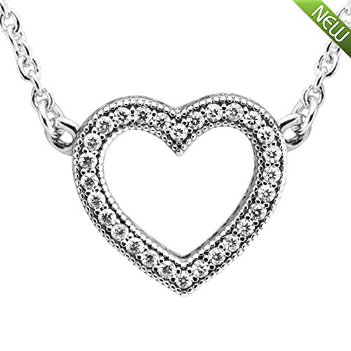 PANDOCCI 2017 Saint Valentin collection de mode authentique 925 Sterling Silver Loving Hearts Of Collier Set Cadeau Bijoux Cadeau pour les femmes