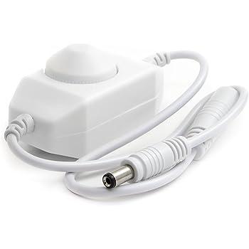 HitLights LED Strip Light Mini Dial Dimmer, White