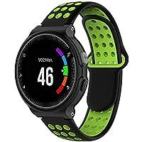 MDLIX GHD AYW for Garmin Forerunner 220/230 / 235/630/620 / 735xt Correa de Silicona (Negro Rojo) (Color : Black Green)