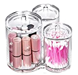 Bekith 3pc Acrylic Clear Cotton Ball and Swab Organizer...