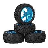 Mxfans Blue Aluminium Alloy 5 Spoke Wheel Rims + Black H Type...