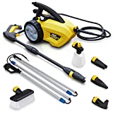 Wolf 1500w Electric Pressure Washer 105BAR Power Jet + 5 Nozzles and Telescopic