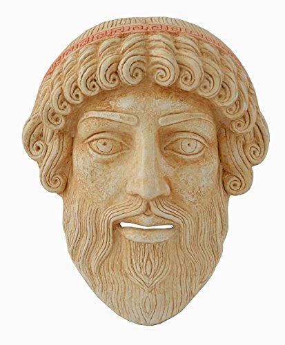 Estia Creations Poseidon pequeño máscara–Teatro Griego de la Antigüedad–Dios de la mar