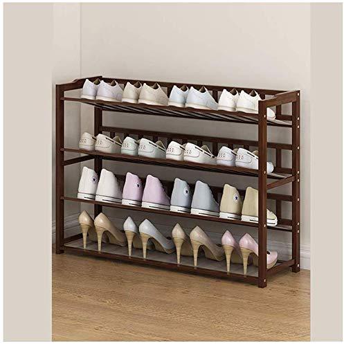 YLCJ schoenenrek met 4 lagen, van bamboe, eenvoudige montage, voor woonkamer, slaapkamer, veranda, 3 modellen verkrijgbaar (afmetingen: 90 x 23 x 66 cm)