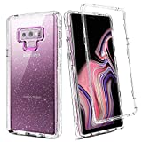 BENTOBEN for Galaxy Note 9 Case, Clear Samsung Galaxy Note 9 Case Three Layer Hybrid Hard PC Flexible TPU Heavy Duty Rugged Bumper Shockproof Transparent Protective Phone Cover Glitter Crystal Design