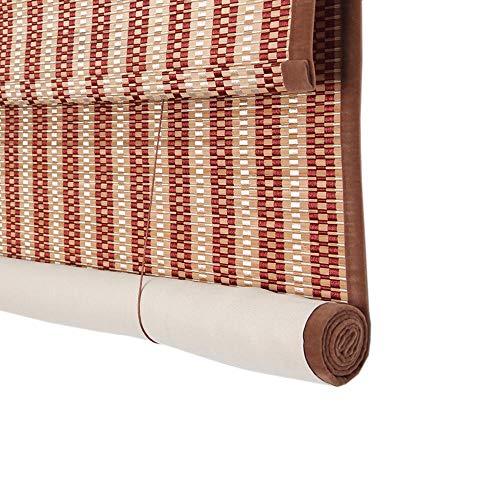 JIAYUAN Rollo van bamboe, met 100% UV-bescherming, verticale rolluiken trekken de kabel aan de rechterkant, tuin, patio, Galleria balkon roman