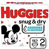 Huggies Snug & Dry Diapers, Size 2, 112 Ct