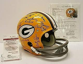 Green Bay Packers Bart Starr Team Autographed Signed Rk Full Size Fs Helmet Memorabilia JSA Z72964 Sb I