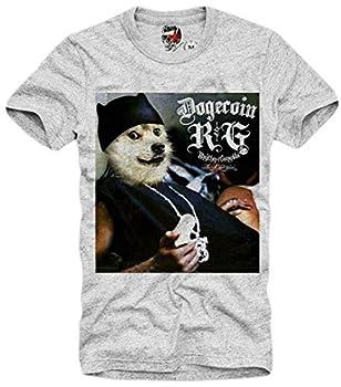 E1SYNDICATE Dogecoin Doge T Shirt Elon Musk Bitcoin Ethereum Ripple Crypto LIGHTCOIN Large Gray