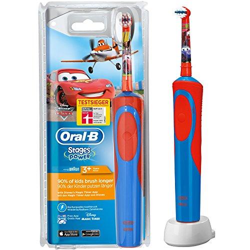 Oral-B Stages Power Akku Cars elektrische Kinderzahnbürste mit Timer