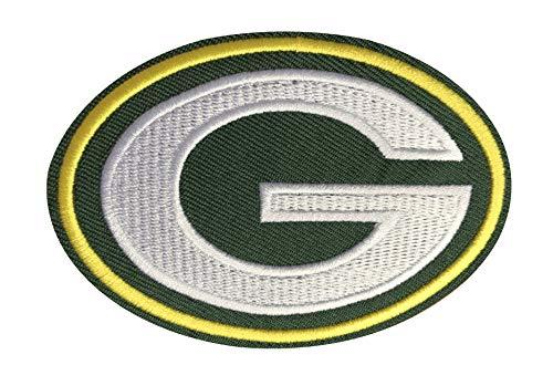 Green Bay Packers Aufnäher, bestickt, ca. 9 x 5 cm, NFL