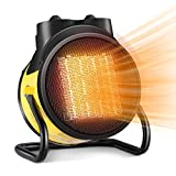 Electric Heater, Portable Heater Fan, 1500W Electric Space Heater with 3 Modes, 3S Quick Heat, Thermostat with Overheat Protection, Electric Heaters for Home, Space Heaters for Indoor Use, for Bedroom