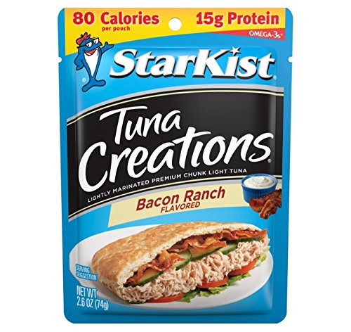 StarKist Tuna Creations Chunk Light Tuna Bacon Ranch Flavored 2.6oz, pack of 1