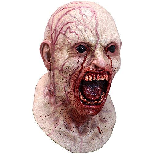 Ghoulish Halloween Party Men's Horror Screaming Infected Zombie Latex Mask