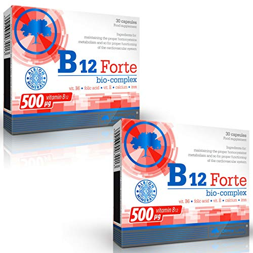 Vitamin B12 Forte BIO-Complex | Maximum Potency Vitamins | Fights Fatigue | Immune System Health and Support (60 Capsules)