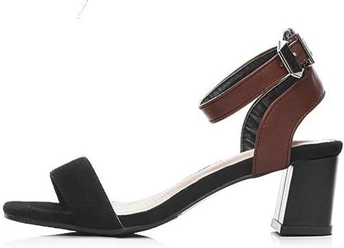 MEILI Palabra de mujer con sandalias de tacón alto , 2 , US7.5   EU38   UK5.5   CN38